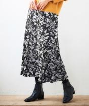 eclat フラワーフレアスカート