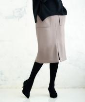 メルトンジャージータイトスカート