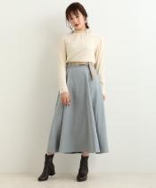 細コールフレアースカート