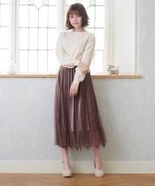 裾レースベロアスカート