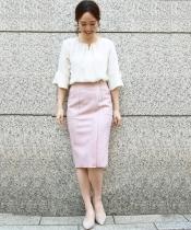 ダブルフェイスフェイクスエードタイトスカート