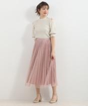 チュールキララメスカート