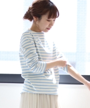 ORCIVAL COTTON LOURD ボーダーTシャツ
