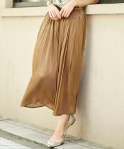 楊柳シャイニーギャザースカート