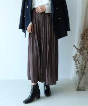 アンティークサテンマジョリカプリーツスカート