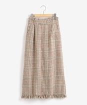 フリンジムードIラインスカート
