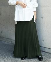 プリーツライク編みブライトニットマーメイドスカート
