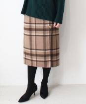 ウールチェックリバーシブルスカート
