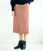 ソフトフェイクレザースカート