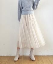 ソフトチュールフレアースカート