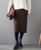 ライトジャージメルトンフロントジップタイトスカート