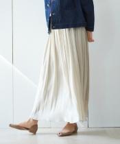 楊柳シャイニーロングスカート