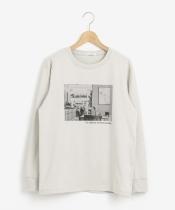 モノクロフォトプリントロングTシャツ