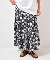 フラワードットマーメイドスカート