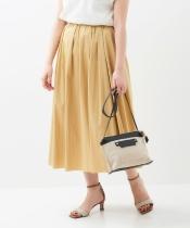 リバーシブルシャンブレーギャザースカート
