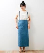 Fanaka 麻サロペットスカート