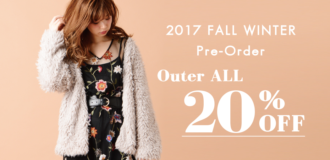 2017 FALL WINTER OUTER ALL20%OFF