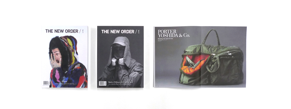 "Notice on the feature article about PORTER in ""THE NEW ORDER MAGAZINE  vol.20."" 9f4fa756eb437"